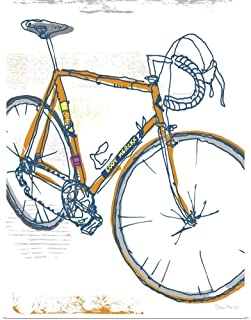 GREATBIGCANVAS Poster Print Eddy Merckx Bike Illustration by Peter Horjus 18