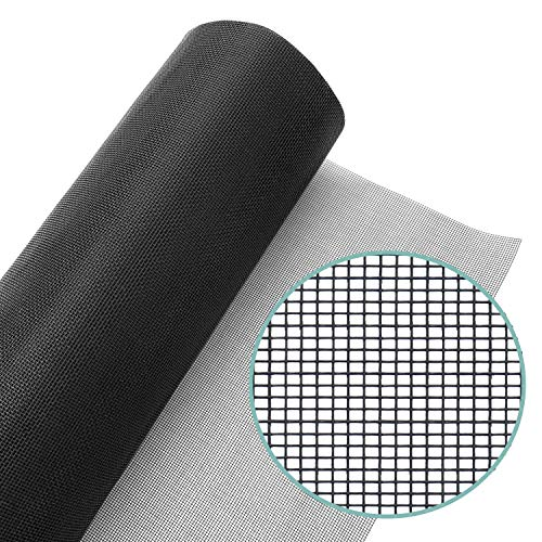 Lazy Dog Warehouse Window Screen Mesh Roll 96 in x 100ft - Fiberglass Screen Replacement Mesh for DIY Projects (Black Mesh)