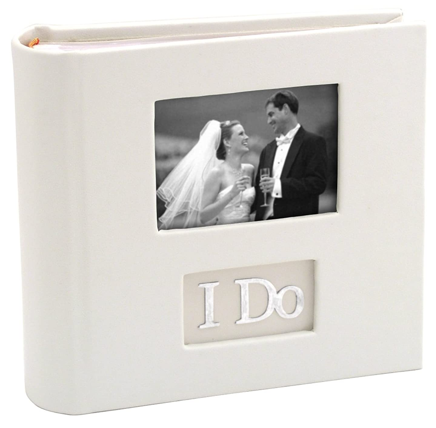 Malden International Designs I Do With Photo Opening Cover & Memo Space Photo Album, 1-Up, 100-4x6, White