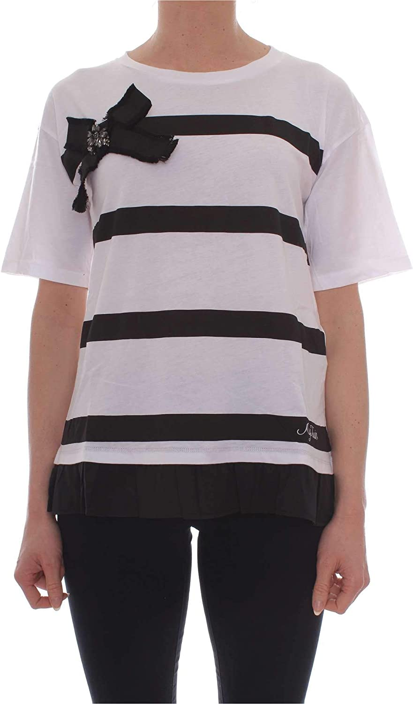 MY TWIN Women's 191MP206C733 White Cotton TShirt