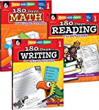 180 Days of Practice for First Grade (Set of 3), 1st Grade Workbooks for Kids Ages 5-7, Includes 180 Days of Reading, 180 Days of Writing, 180 Days of Math
