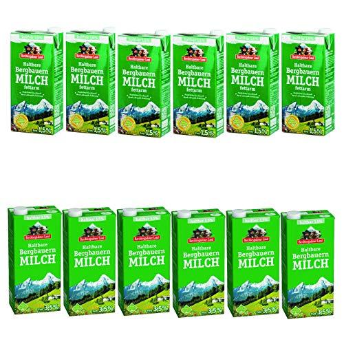 Berchtesgadener Land H-Milch Mix 6x 1,5% Fett 1l und 6x 3,5% Fett 1l
