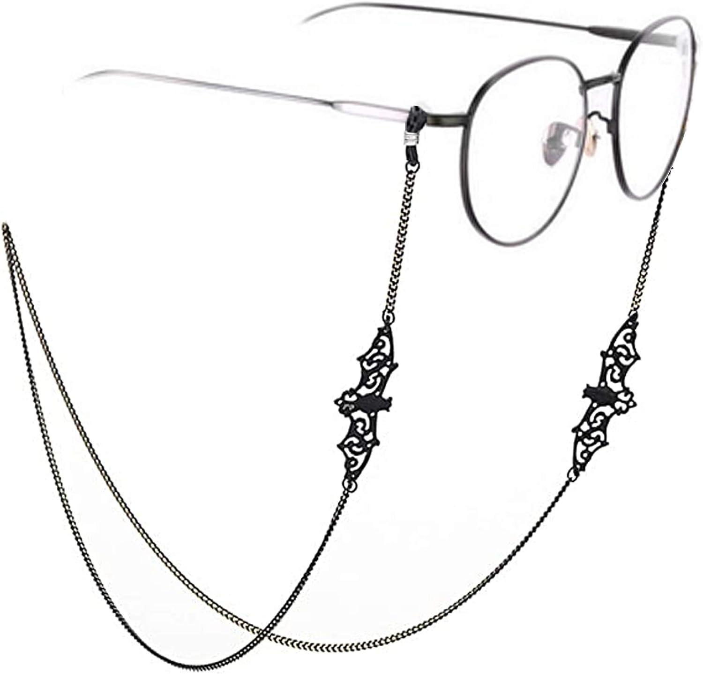 Women Men Glasses Chains Sunglass Eyeglass Necklace Eyewear Reading Glasses Retainer Strap Holder lanyards Black Bat
