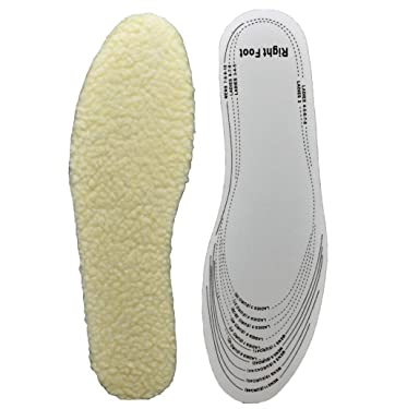 Warm Fleece Sheepskin Insole Men's & Women's Premium Cozy & Fluffy Inserts with Foot Cushion Shoes Pad (White_OneSize)