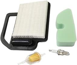 HURI Air Filter with Pre Filter Fuel Filter Spark Plug for Cub Cadet LTX1040 LTX1045 KH-2088302-S1 OCC-2008302 KH-2088302-S1 Craftsman 24642