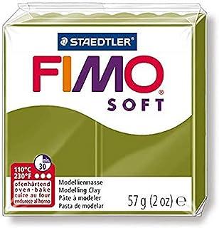 Staedtler Pâte À Modeler Fimo Soft, Facile À Démouler, Durcissant Au Four, Pain De 57 G Vert Olive, 82-57