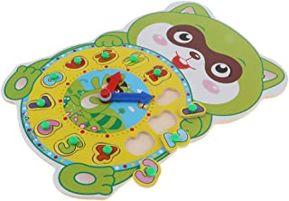 CUTICATE Kids Wooden Cartoon Digital Clock Animal Puzzle Early Learning Toy Squirrel