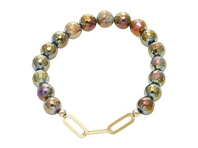 Dee Berkley Linked Together Mystic Forest Agate Bracelet