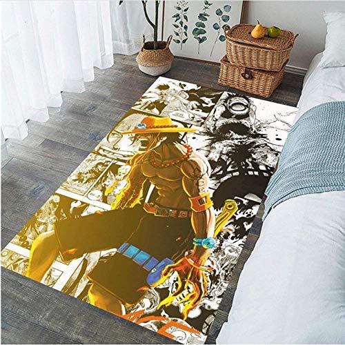 Teppich Fußmatte Muskel Anime Junge rutschfeste Bodenteppich Teppich Wohnzimmer Schlafzimmer Küche rutschfeste Teppichmatte -100 X 160 cm