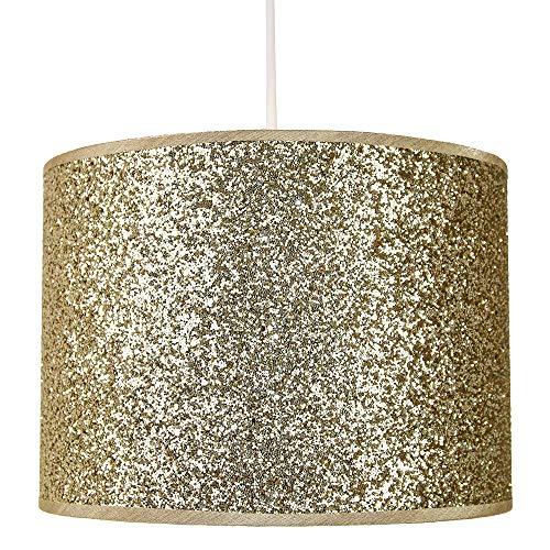 Modern en ontwerper helder goud glitter stof hanger/lampenkap 25cm breed
