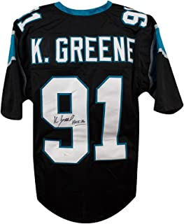 Kevin Greene HOF Autographed Carolina Panthers Custom Black Football Jersey - JSA COA