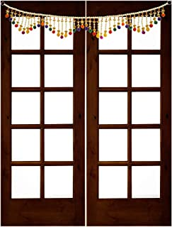 Handicraft Storeroom Handmade Toran Traditional White,Golden and Red Pearl Door Hanging Toran .Traditional Multicolor Decorative Toran for The Coming Festive Season