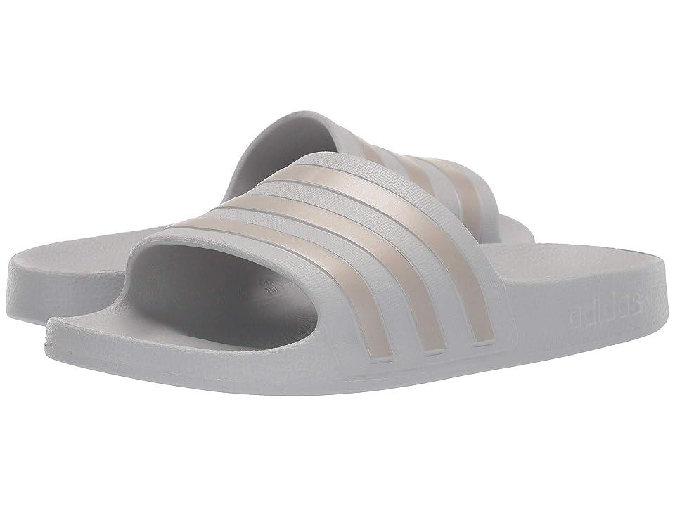 adidas Adilette Aqua (Grey/Platinum Metallic/Grey) Women