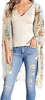 1b27f989ef9c SUDADY Mujer Camiseta, Camisa de Gasa para Mujer, Camisa de Manga Corta  Casual Suelta