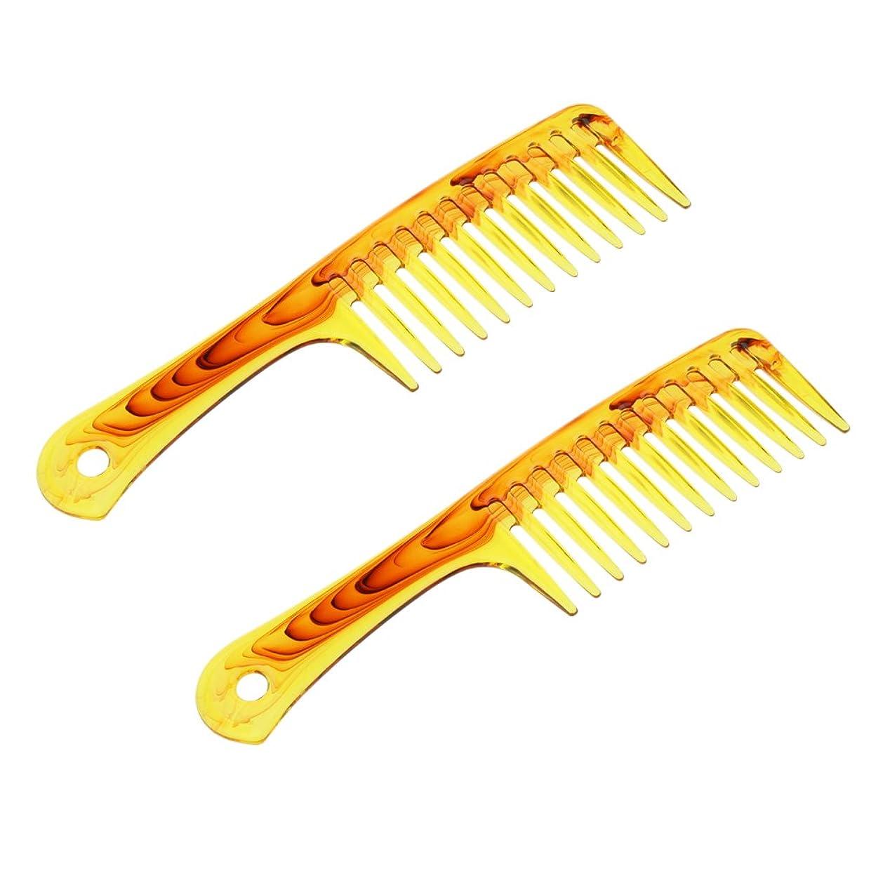 モーション甘やかす洗剤Baosity ヘアコーム プラスチック製 2個入 櫛 くし シャンプー 広い歯