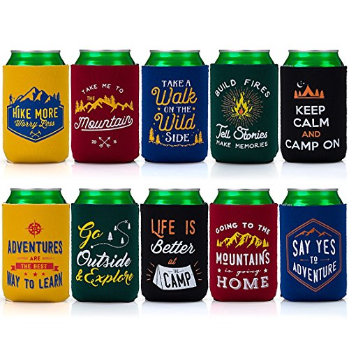 Camp Theme Insulated Beer Can Covers