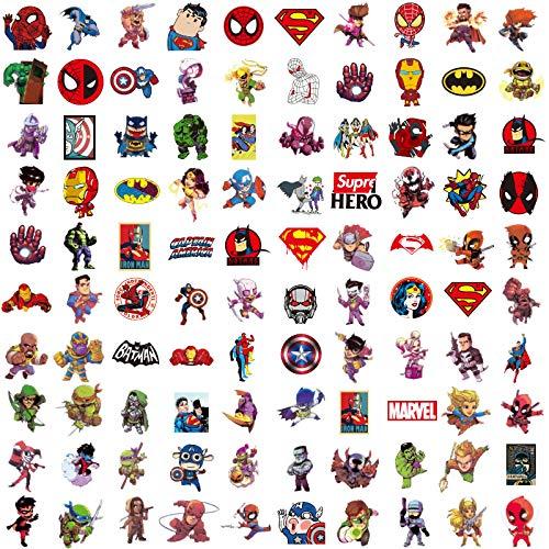 Later Marvel Avengers Cartoon Koffer-Aufkleber, Koffer-/Computer-Dekoration, 100 Stück