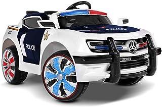 RIGO Kids Ride On Car Police Toy Car 12V Battery Remote Control