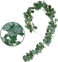 2M kunstmatige groene eucalyptus garland bladeren wijnstokken nep wijnstokken rotan planten klimop krans tuin muur decor v...