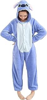 Unisex Adult Pajamas Costume Onesie Flannel Halloween Cosplay Hooded Jumpsuit