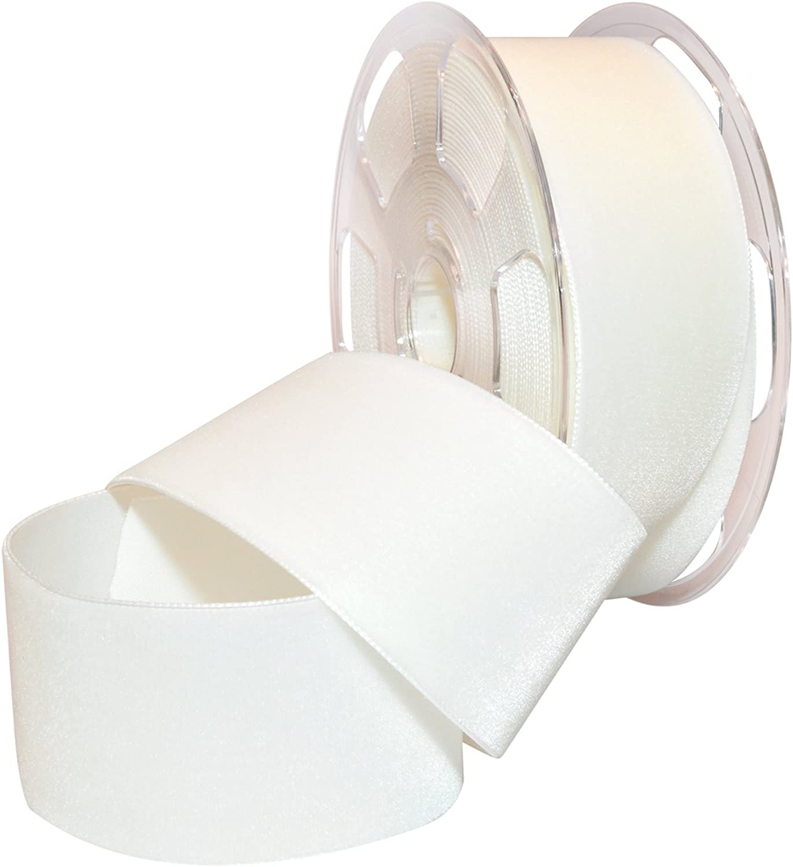 Morex Ribbon 01250 10401 Nylvalour Swiss Velvet Nylon Ribbon, 2Inch by 11Yard, White