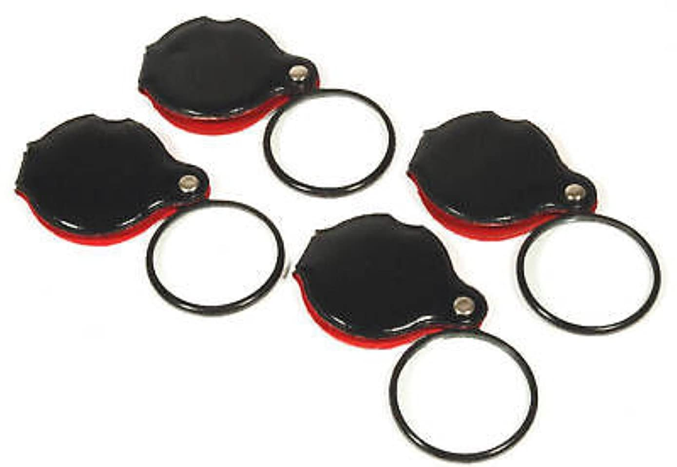 4 8X JEWELERS LOUPE MAGNIFIER MAGNIFYING POCKET