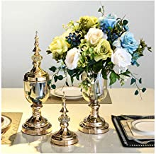 Flower Bottle Fashion Crystal Decorative Vase Transparent Cover Table Candy Vase Set (1 Set 2 Pieces)
