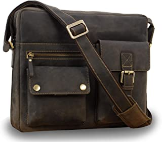 Visconti Messenger Bag- Hunter Leather - Hardwearing/Shoulder/Cross Body/Laptop Compatible/Notebook/iPad/Business/Office/Work Bag - 16077 - Scott - Oil Brown