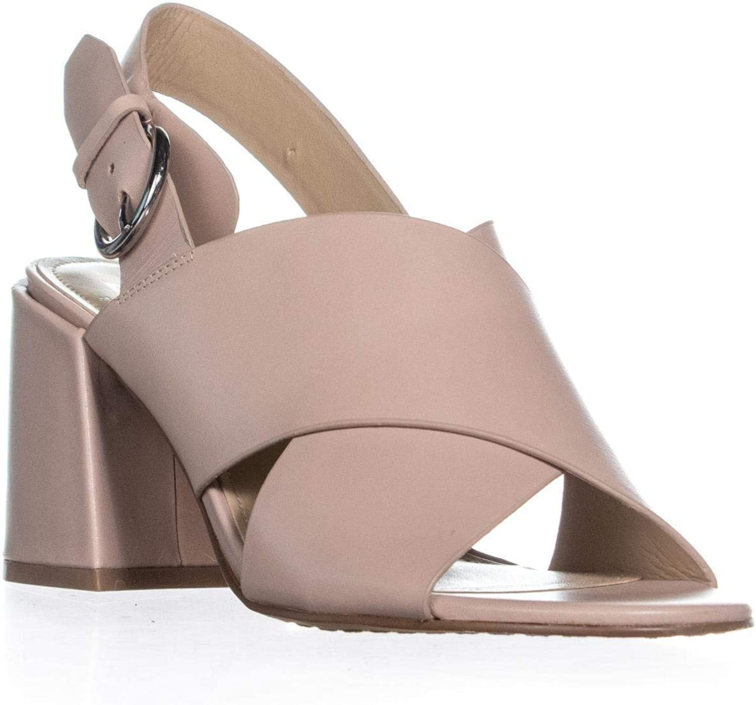 Marc Fisher Womens Hocie Leather Criss-Cross Slingback Sandals