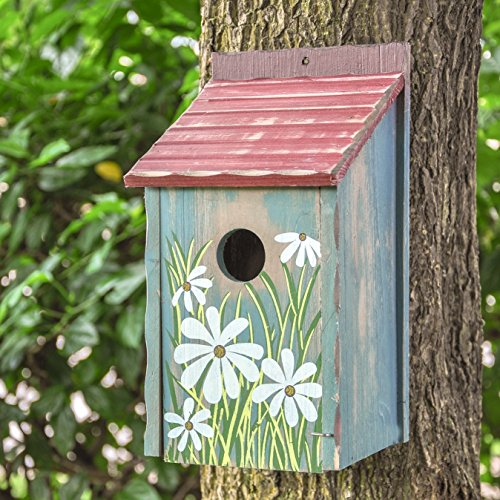 Gardirect Retro Painted Bird House Wooden Bird Nesting Box