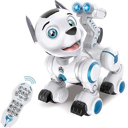 fisca Fernbedienung Roboter Hund RC Interaktiv Intelligente Walking Tanzen Programmierbarer Roboter Welpen Spielzeug Elektronische Haustiere mit Licht und Ton für Kinder Jungen Mädchen