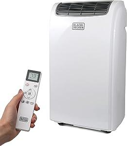 BLACK+DECKER BPT06WTB Portable Air Conditioner with Remote Control, 6,000 BTU SACC/CEC (10,000 BTU ASHRAE), Cools Up to 250 Square Feet, White