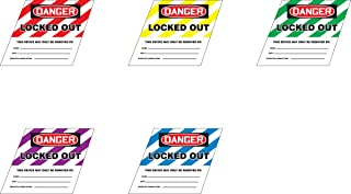 Accuform KDD491GN STOPOUT Ball Valve Lockout Label, Legend