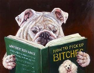 Image Conscious Casanova by Lucia Heffernan Bulldog Pick-up Artist Humor Funny Novelty Poster,