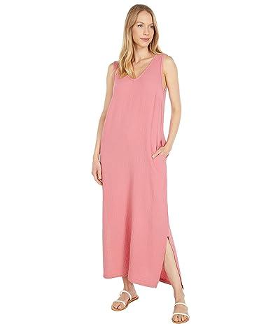 Mod-o-doc Double Layer Gause V-Neck Maxi Dress