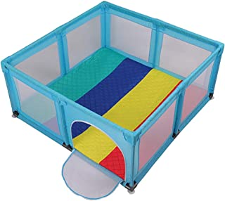 LXDDP Playpen Extra High Baby Playpen with Thick Mat  Safety Anti-rollover Breathable Kids Play Game Fence  Height  color Colorful  Size 120 120 70cm