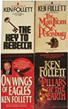 4 Novels by Ken Follett: The Key to Rebecca / The Man From St. Petersburg / On Wings of Eagles / Pillars of the Earth