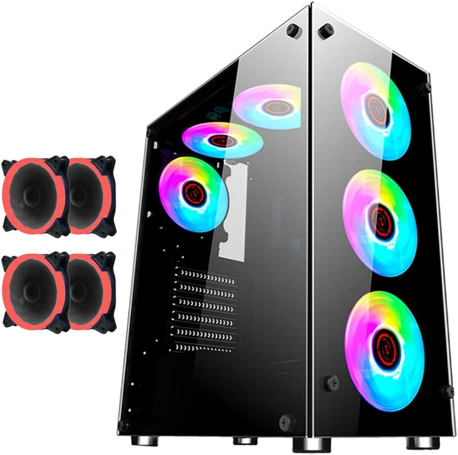 WSNBB Gaming Case Mid-Tower ATX Ca Seasonal Limited time sale Wrap Introduction ITX PC M-ATX Computer