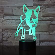 Night Light Schnauzer Dog Breed Portrait 3D Led Night Light Animals Schnauzer with Decorative Rock Gesture Color Change Modern Table Lamp