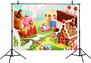 Funnytree vinyl 7x5ft children's photography backdrop background Hansel and Gretel Candy Kingdom fairy tale world family birthday party banner Newborn Photographic studio prop props photo studio booth
