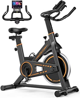 دراجة مكتبية داخلية من يوريفو، دراجة تدريب على الدراجة، دراجة لياقة منزلية، دراجة تمارين تمارين تمارين قلبية، أسود، UREVO ...