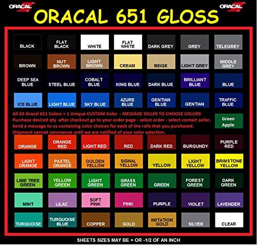 """12/"""" X 5yd Brilliant Blue Oracal 651 Craft /& Hobby Cutting Vinyl Roll"""