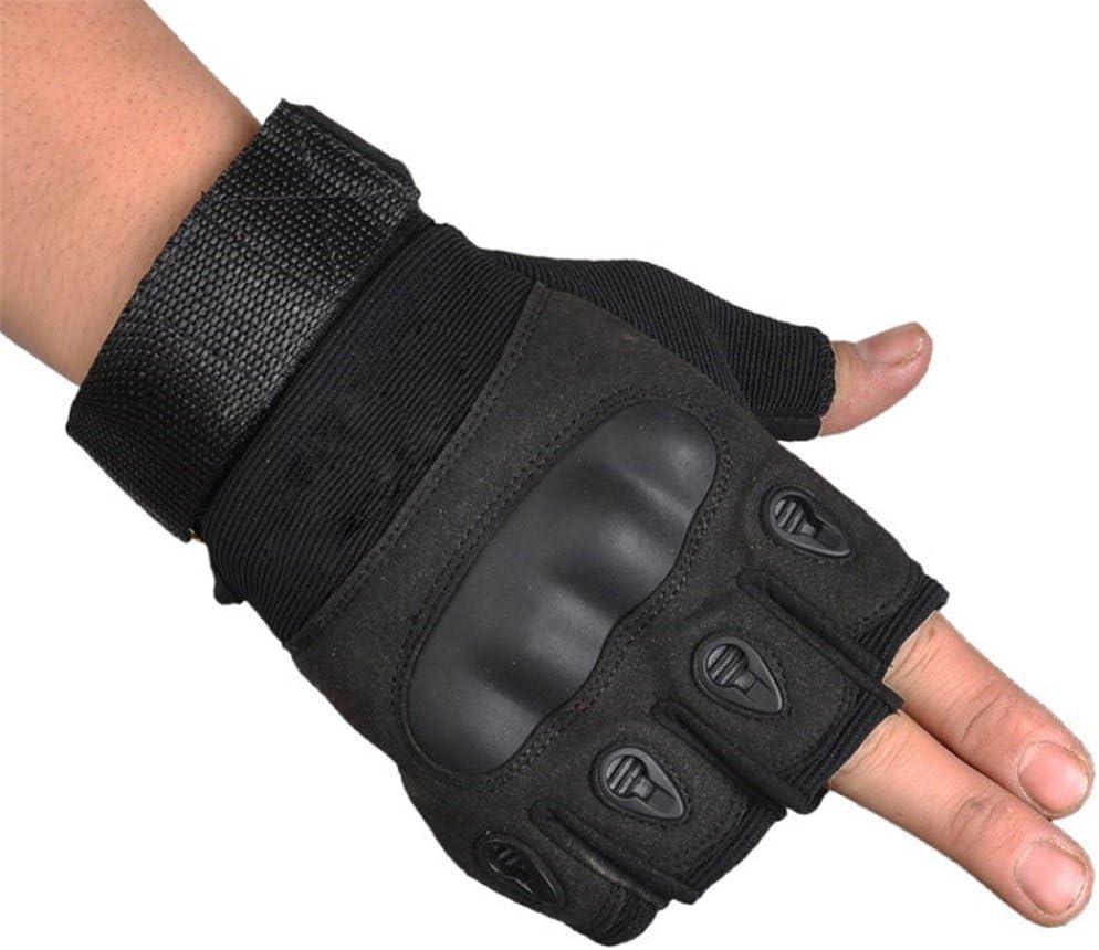 Mens Half Classic Finger Gloves Max 80% OFF Military Hard Bi Knuckle Tactical