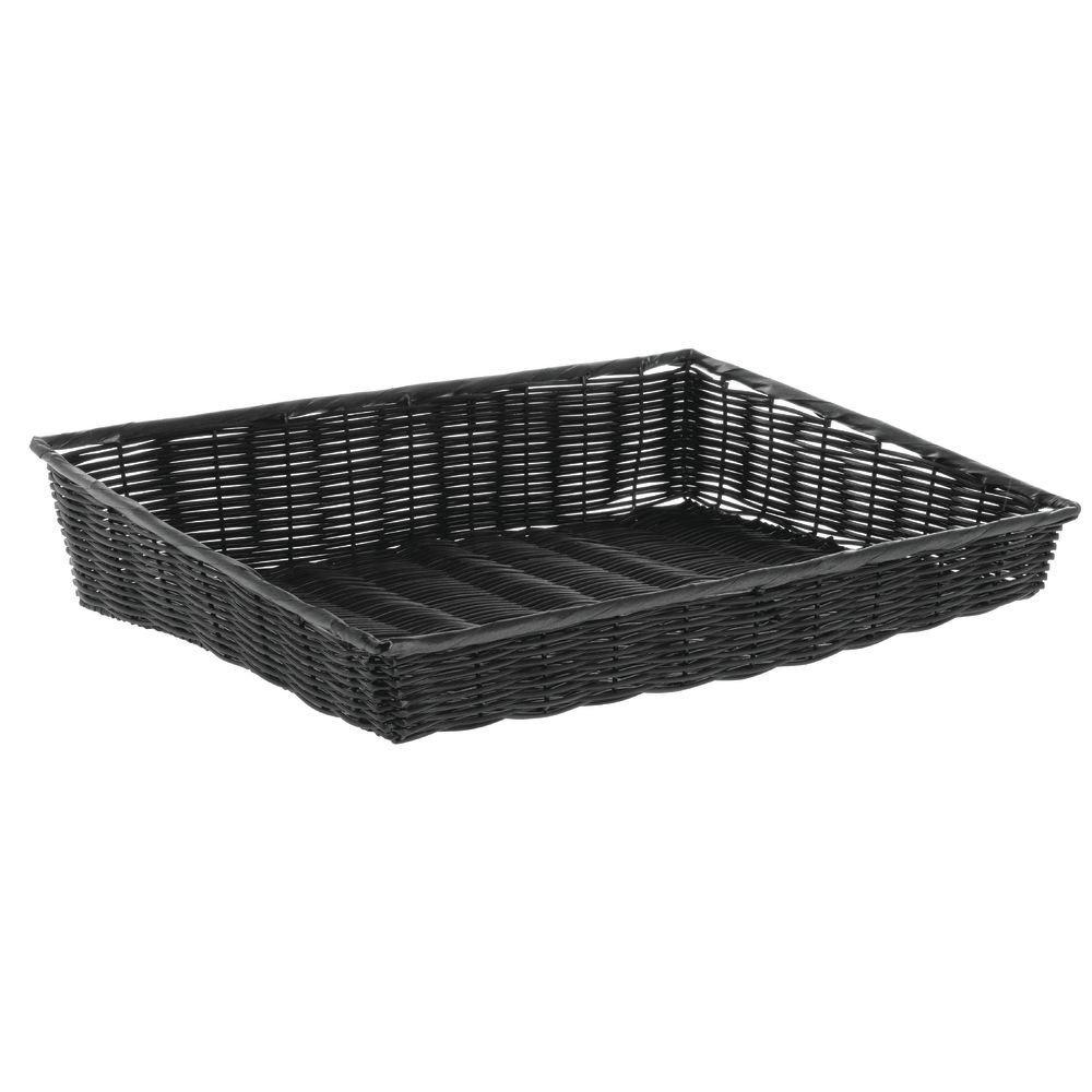 Basket Black Wicker Max 48% OFF - 24