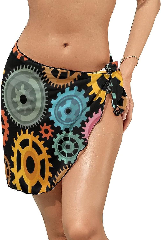 Women Beach Wrap Skirt Chiffon Sarong Pareo Swimsuit Bikini Cover Ups Colorful Gear