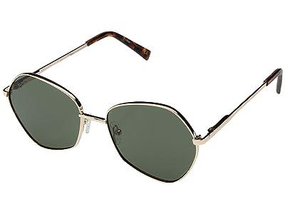 Le Specs Escadrille (Bright Gold/Khaki Mono) Fashion Sunglasses
