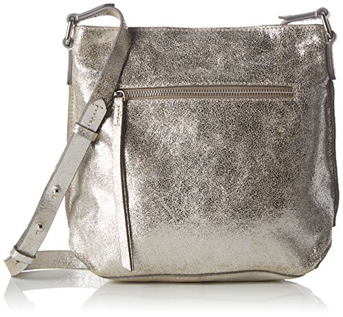 Clarks Damen Topsham Jewel Leder, Silber (Silver Leather), 10x25x31 cm