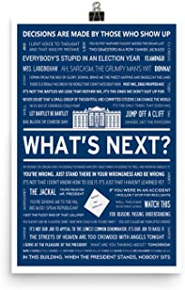 The west Wing Print Wall Art-west Wing Quote Poster-What's Next-Vote Bartlett