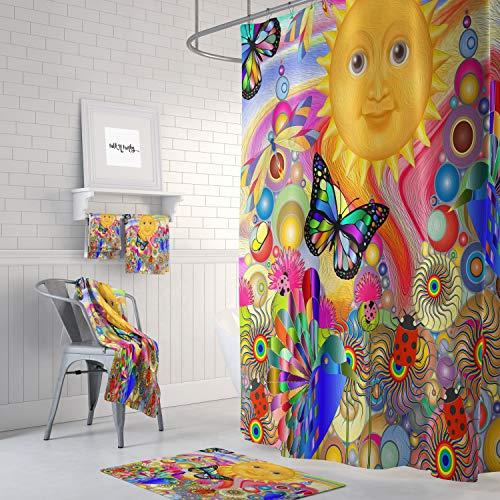 Zachrtroo Duschvorhang unter der Sonne Boho Hippe Style