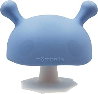 Mombella Mimi The Mushroom Super Soft Silicone Pacifier Teether Toy for 0-6Months Sucking Needs Baby, Light Blue
